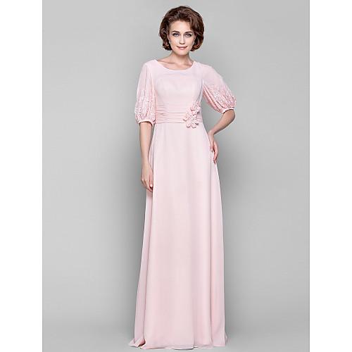 Платье из шифона для дам с 1/2 рукавами фонариками, длина до пола, силуэт колонна Lightinthebox 4253.000