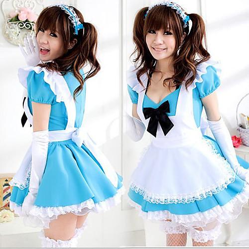 Cute Girl белый фартук синей форме платье горничной Lightinthebox 1288.000