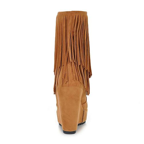 Chic замши клин пятки сапоги с кисточкой партии / вечер обувь (больше цветов) Lightinthebox 1503.000