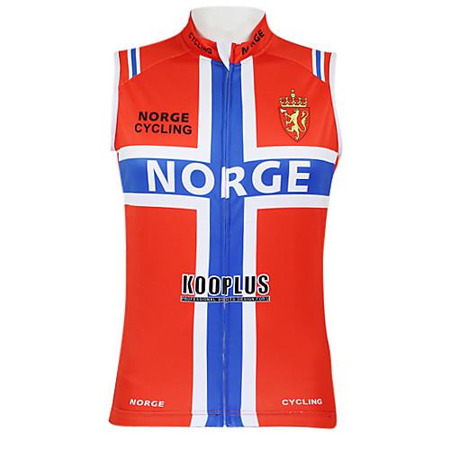 Kooplus2013 Чемпионат Норвегии Джерси 100% полиэстер Wicking Волокна рукавов жилета Велоспорт отражающей лентой Lightinthebox 1288.000