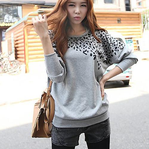 Женская кофта с рукавом летучая мышь с леопардовым принтом Lightinthebox 725.000