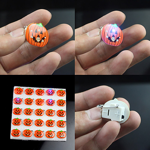 Светодиодные Хэллоуин тыква Пластиковые Breastpin Lightinthebox 128.000