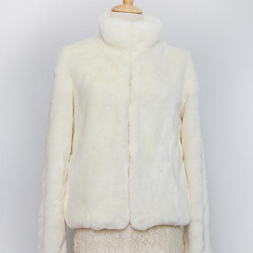 Толстые с длинным рукавом стоячим воротником из искусственного меха партии / повседневные куртки (другие цвета) Lightinthebox 1718.000