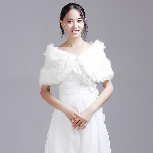 Chic искусственного меха свадьба / Вечер шаль с блестками Lightinthebox 760.000