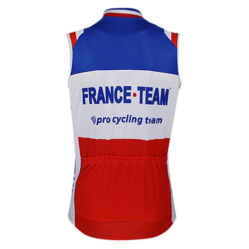 Kooplus2013 Чемпионат Франции Джерси 100% полиэстер Wicking Волокна рукавов жилета Велоспорт отражающей лентой Lightinthebox 1288.000