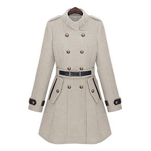 Pinklady двойной грудью стенд воротник пальто Lightinthebox 2234.000