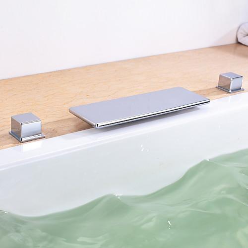 Хромированная отделка двойные ручки ванной кран ванна Lightinthebox 5156.000