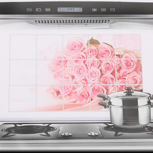 75x45cm Розовые розы маслостойкой Водонепроницаемый Стикер стены кухни Lightinthebox 85.000