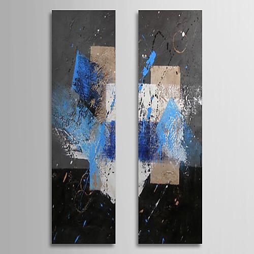 Ручная роспись абстрактные картины маслом с растянутыми кадр Набор из 2-1309C AB0833 Lightinthebox 3007.000