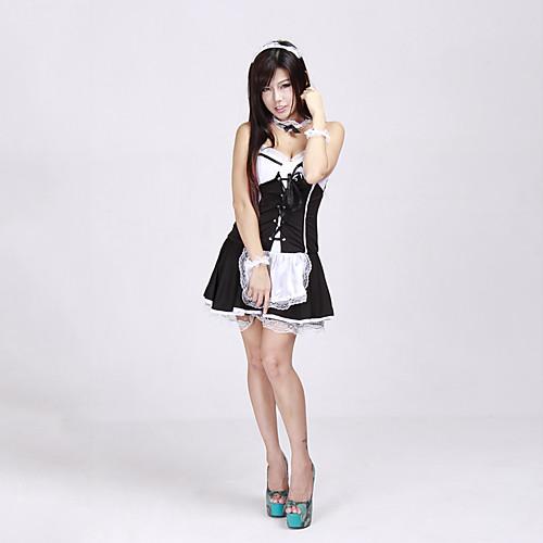 Горничная женщин Официант Необычные платья Halloween Costume (5Pieces) Lightinthebox 858.000