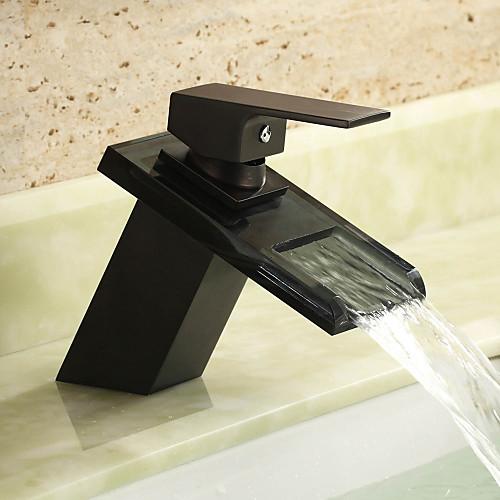 раковина ванной кран с античной отделкой шар водопад Centerset стекла кран Lightinthebox 2577.000