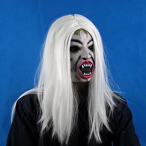 Белый Монстр с цветными волосами Маска Хэллоуина Lightinthebox 644.000