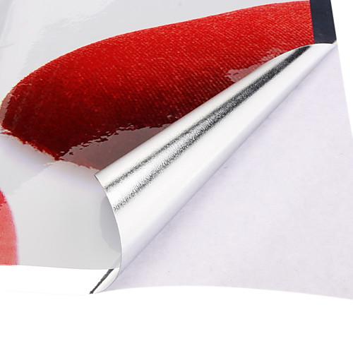 Стикер для кухни, 75x45см, красные розы, защита от воды и масла Lightinthebox 128.000