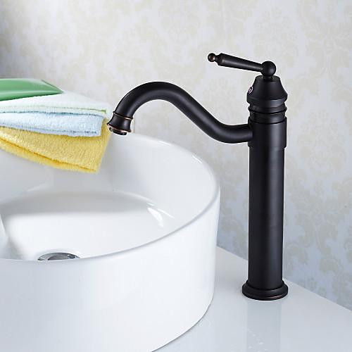 Традиционный стиль Нефть потер бронзовый Прилавок Отделка ванной комнате раковина кран Lightinthebox 4296.000
