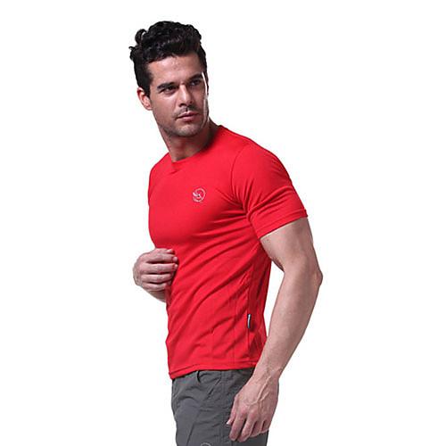 langzuyoudang мужская с коротким рукавом быстрый сухой спортивные футболки воздухопроницаемость черный, белый, красный Lightinthebox 343.000