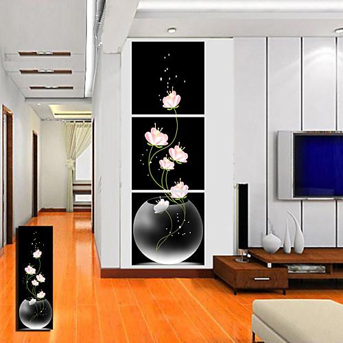 Натянутым холстом Искусство цветочный розовый цветок Набор 3 Lightinthebox 2577.000