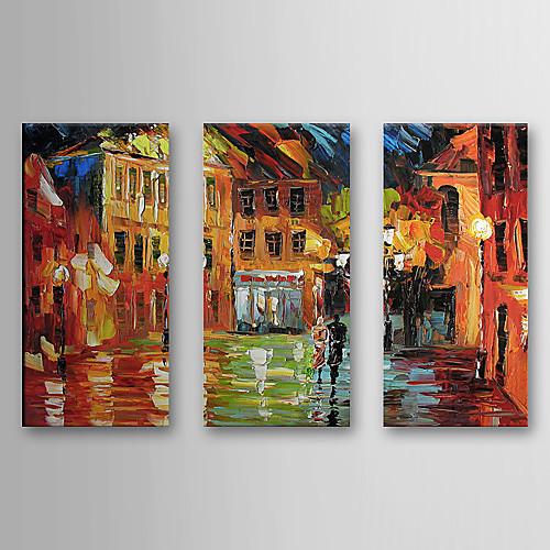 Ручная роспись пейзаж маслом с растянутыми кадр Набор 3 1308-LS0584 Lightinthebox 4726.000