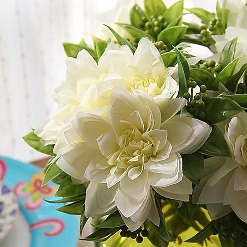 Букет белых искусственных цветов в стеклянной вазе Lightinthebox 2148.000