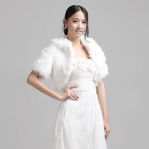 хороший короткий рукав искусственного меха вечером / вскользь свадьбы Wrap / куртку (больше цветов) Lightinthebox 1121.000