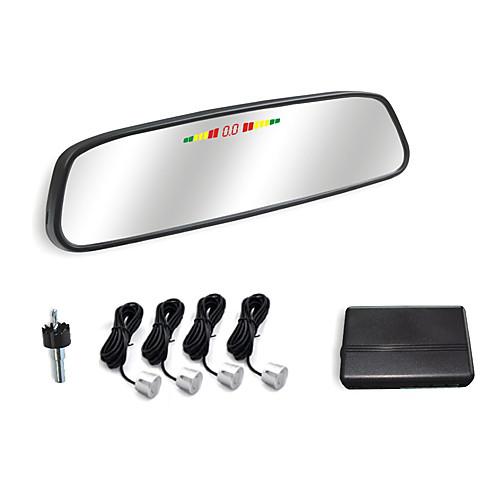 Автомобильное зеркало заднего вида с 4 Радар парковочный сенсор системы-светодиодный дисплей и зуммер сигнализации Lightinthebox 1159.000