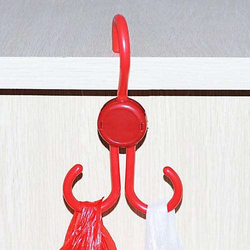 Японский стиль Красный пластиковый гибкий Вешалка 2 крючка Lightinthebox 64.000