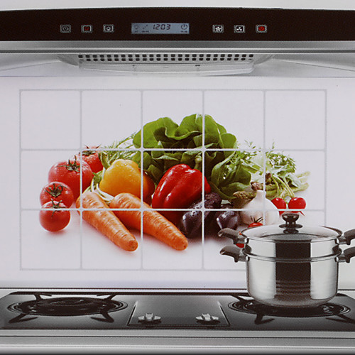 75x45cm Pattern Овощи маслостойкой Водонепроницаемый Горячий-Proof Кухня стикер стены Lightinthebox 128.000