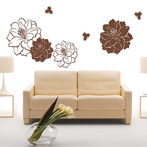 Большой цветок бабочка стикер стены Lightinthebox 1503.000