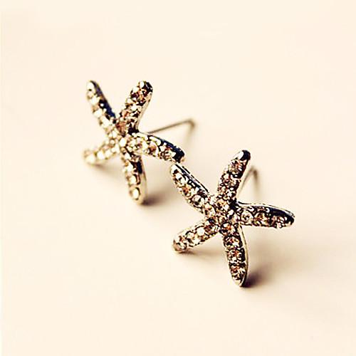 Изысканный полна бриллиантовые серьги морская звезда женских моделей пентаграмма серьги красочные серьги E185 E306 Lightinthebox 64.000