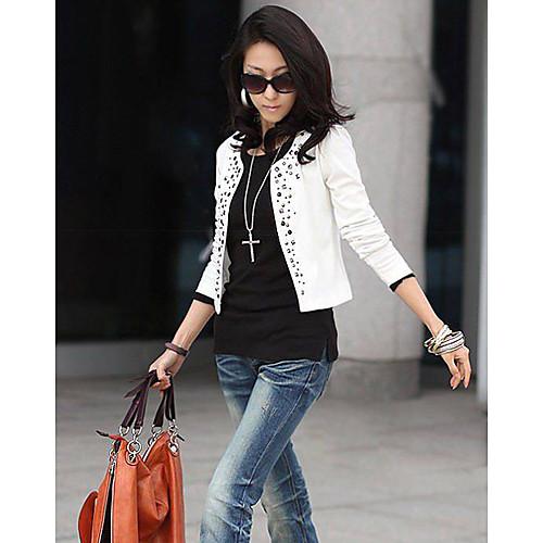 Пиджак женский стильный с длинным рукавом и заклепками (не застегивается) Lightinthebox 753.000