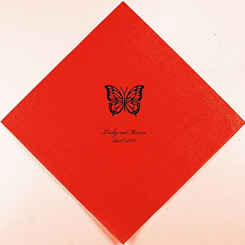 Персонализированные свадебные Салфетки Butterfly (другие цвета)-набор из 100 Lightinthebox 880.000