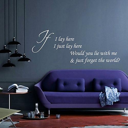 Ты бы лежала со мной стены Стикеры Lightinthebox 1503.000