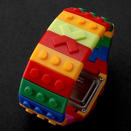 Разноцветные светодиодные часы унисекс в стиле Lego Lightinthebox 384.000