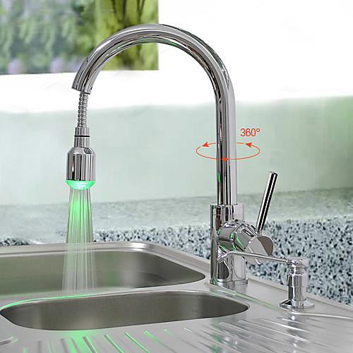 латуни снести кухонный кран с изменения цвета светодиода - весна Lightinthebox 5156.000