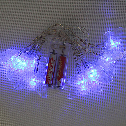 10 светодиодов на батарейках струнного White Fairy огни для Christmas Party (цис-57112)