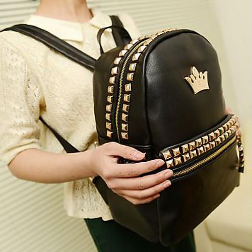 Мода заклепки Большой рюкзак