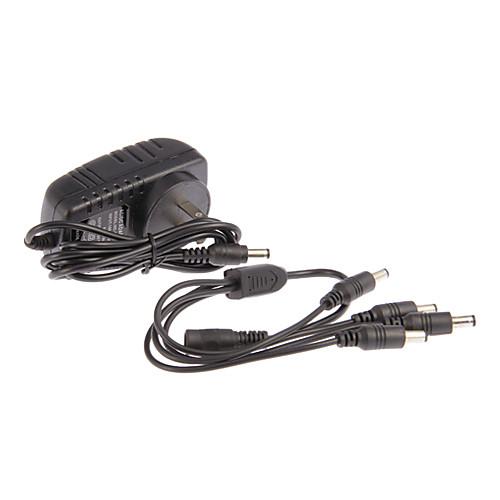 AC 100-240V DC 12V 2A Шнур питания CCTV камеры Адаптер питания  1 до 4 для камер Lightinthebox 300.000