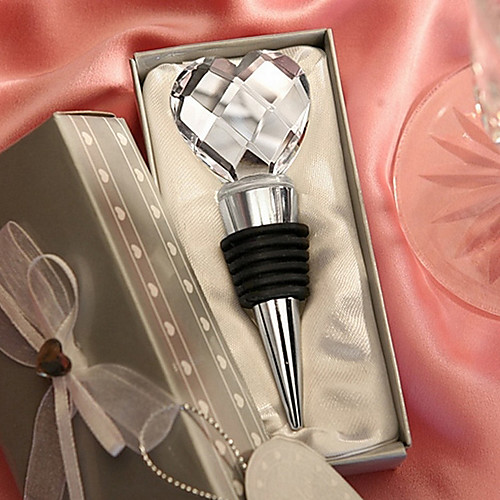 Хрустальное сердце дизайн Chrome бутылку пробкой Lightinthebox 171.000