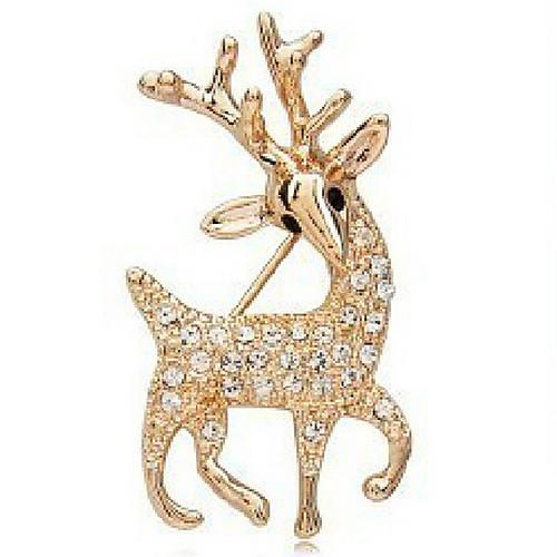 Красивые сверкающие бриллиантовая брошь полный алмазов пятнистый олень брошь приток женщин X28 Lightinthebox 64.000
