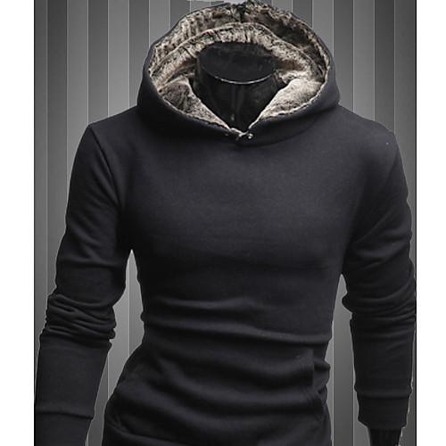 Черный Новый REVERIE UOMO Мужская Толстовка продукта кролика Повседневная Hoodie Lightinthebox 773.000