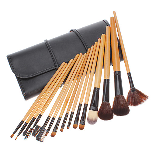 15pcs Pro девушку Путешествия макияжа Косметические кисти кисти набор инструментов Чехол сумка Kit Lightinthebox 558.000