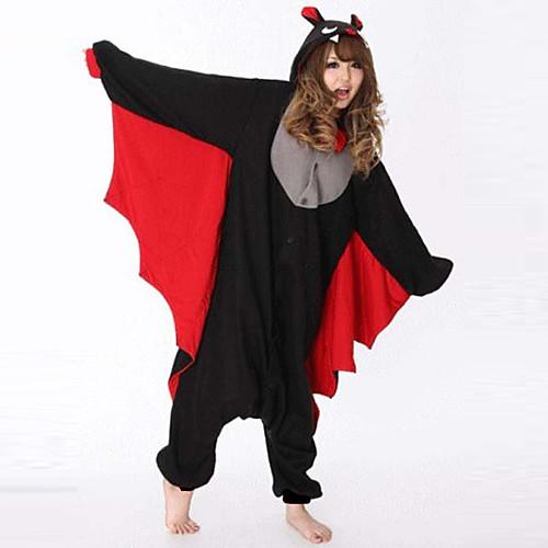 Жестокий Bat Черный флис Kigurumi пижамы пижамы мультфильм животных Хеллоуин костюм Lightinthebox 1718.000