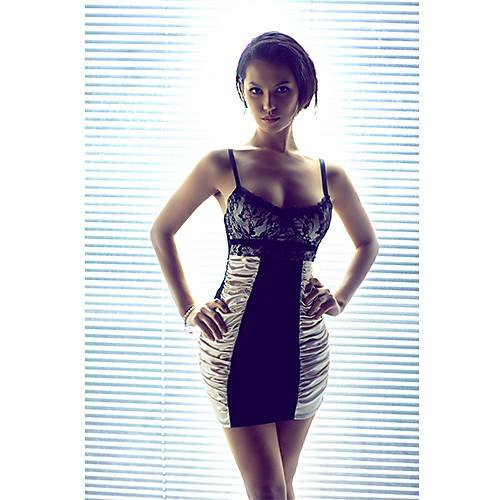 Обтяжку черный и золотой Дакрона платье Lightinthebox 858.000
