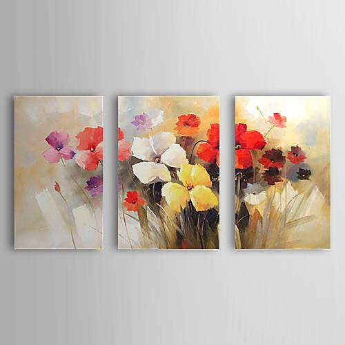 Ручной росписью маслом Цветочные цветущие цветы с растянутыми построенной системе 3-1308 FL0733 Lightinthebox 4296.000