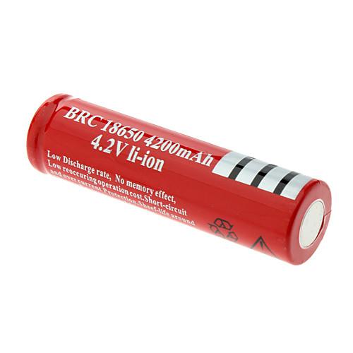 Аккумулятор UltroFite 18650 Lithium в виде батарейки 4200mah (1 штука) Lightinthebox 83.000