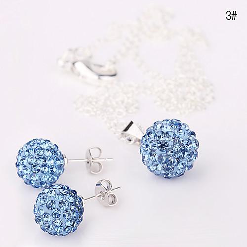 Хрустальный шар 10мм серьги комплект ювелирных изделий Ожерелье № 1 Lightinthebox 214.000