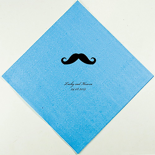Персонализированные свадебные Салфетки Усы (другие цвета)-набор из 100 Lightinthebox 880.000