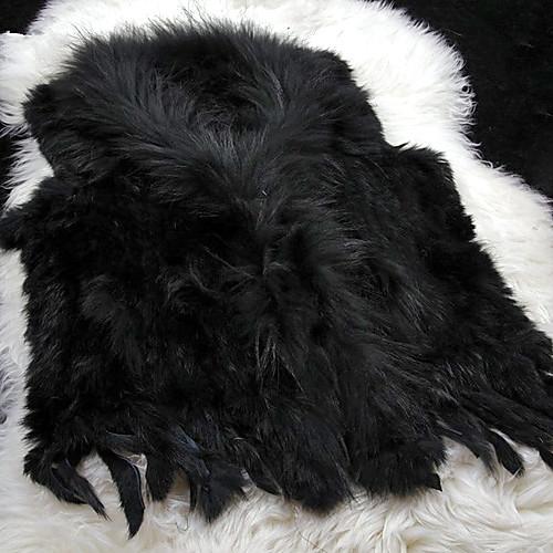меховой жилет с мода рукавов воротника меха кролика партии / Повседневный жилет (больше цветов) Lightinthebox 4253.000
