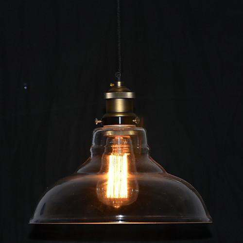 Североамериканский-Style 1 бронзовая подвеска свет в прозрачной тени от Lightinthebox.com INT