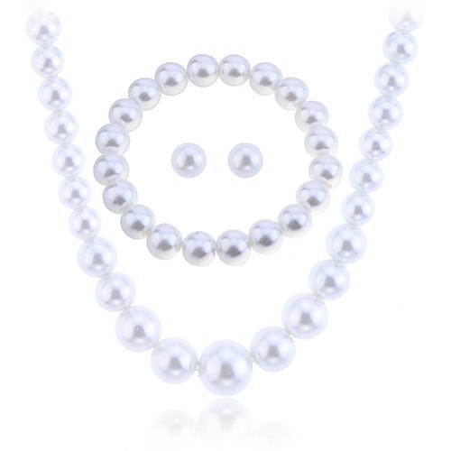 lureme высокое качество жемчужное ожерелье и браслет и серьги комплект ювелирных изделий Lightinthebox