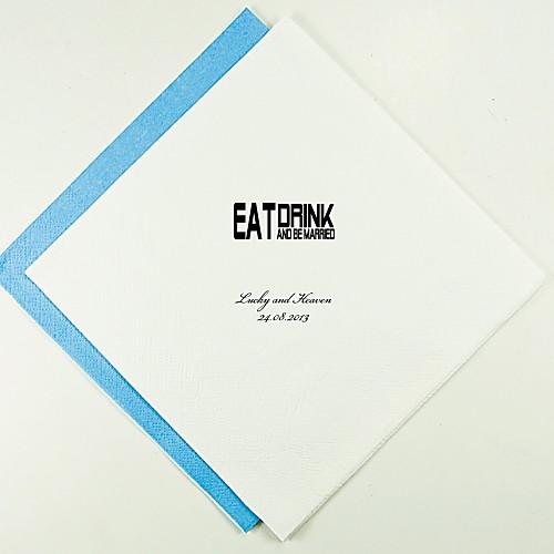 Персонализированные Салфетки Свадебные Ешь, пей - Блок (другие цвета)-набор из 100 Lightinthebox 880.000